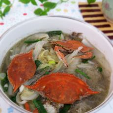螃蟹白菜粉丝煲