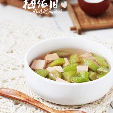 龙井丝瓜豆腐汤的做法