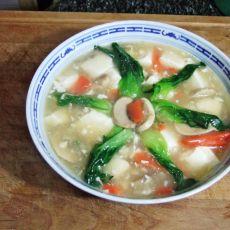 蘑菇豆腐羹的做法