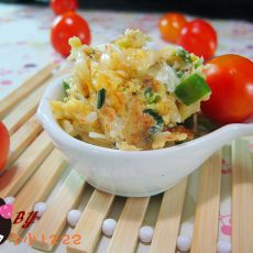 蒜苗虾皮炒蛋的做法