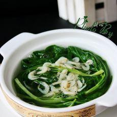 虾皮空心菜汤的做法