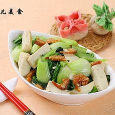 油菜海米炒豆腐的做法