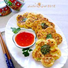 金枪鱼豆腐煎饼