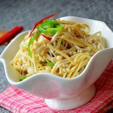 金针菇炒豆腐丝