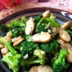 蚝油西兰花草菇
