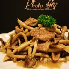 茶树菇焖鸭肉