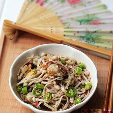 香辣扇贝金针菇――夏日小凉菜