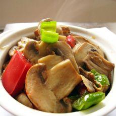 双椒炒蘑菇