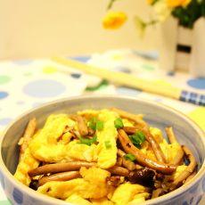 茶树菇炒鸭蛋的做法