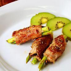芦笋香菇肉卷的做法