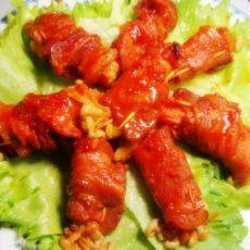 蒜香金针菇五花肉卷