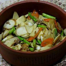 炒芦笋茭白的做法