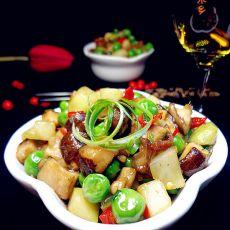香菇榨菜豌豆丁