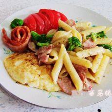 浪漫七夕大餐--培根蘑菇意面