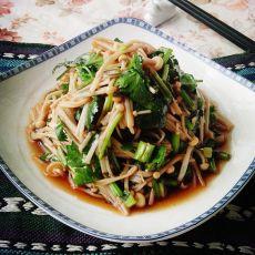 香菜拌金针菇的做法