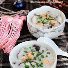 香菇鲜虾粥