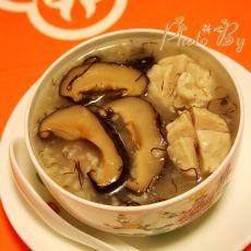 发菜香菇肉丸粥的做法