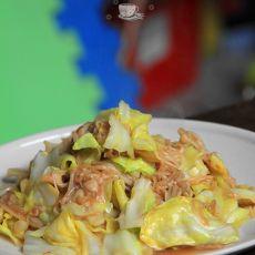 蚝油金针菇炒甘蓝的做法