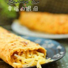 燕麦蛋饼卷土豆丝