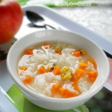 胡萝卜菊花粥的做法
