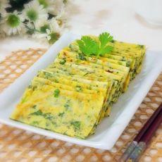 芹菜叶玉米面鸡蛋饼的做法