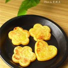 奶香红薯糯米饼的做法