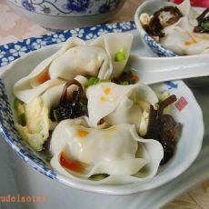 蛋皮荠菜大馄饨的做法