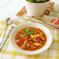 意式蔬菜牛肉汤面