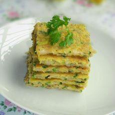 芹香杏鲍菇鸡蛋饼