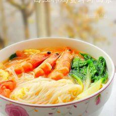 西红柿鸡蛋鲜虾面条