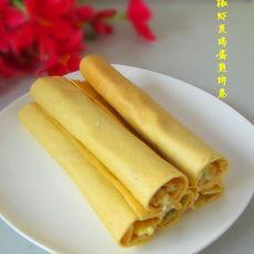 青椒虾皮鸡蛋煎饼卷