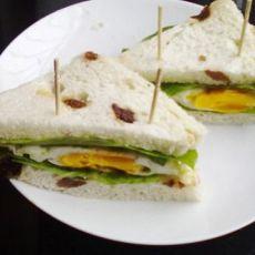 3分钟早餐--面包夹蛋