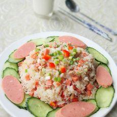 酸菜肉末炒米饭的做法