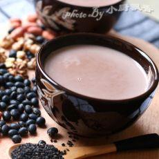 花生黑豆浆