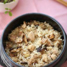 香菇鸡煲饭――电饭锅做港式煲饭