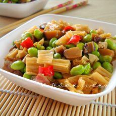 毛豆腐竹丁