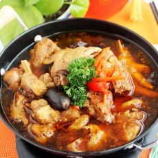 飘香鸡肉火锅