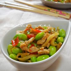 香辣毛豆榨菜肉丝