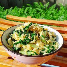 小白菜鸡蛋炒饭的做法