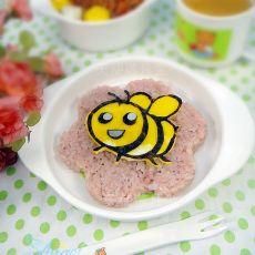 小蜜蜂花朵饭