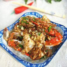 蒜香干锅梭子蟹的做法