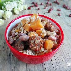 腊肠红薯花生糙米饭