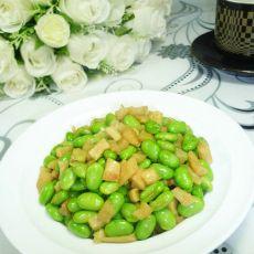萝卜干炒毛豆