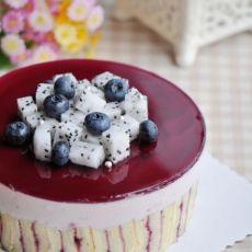 蓝莓之夜慕斯蛋糕