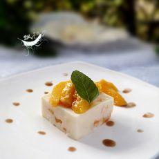 芒果酸奶冻糕