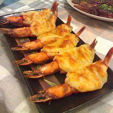 黑胡椒奶酪�h虾