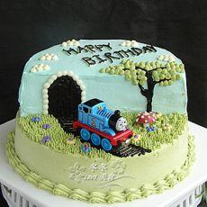 托马斯立体场景蛋糕的做法