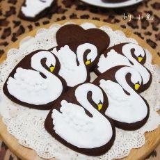 天鹅糖霜巧克力饼干