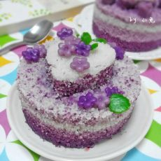 小小花紫薯松糕的做法