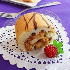 条纹肉松蛋糕卷